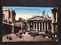 Vintage Real Photo Postcard #TP1574: Bank And Royal Exchange London