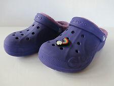 org. CROCS mit Fell lila # Gr. 29 - 31 C 12 13 Hausschuhe Clogs Schuhe Pantoffel