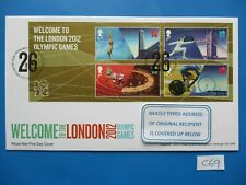 2012 GB FDC: Welcome to the London Olympics M/S  #C69