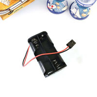 4532 RC 4xAA Battery Box Holder With JR Plug Receiver Cars Boats Planes Black