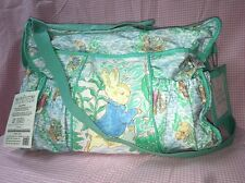 Vintage Quiltex Peter Rabbit Beatrix Potter Collection Baby Diaper Bag
