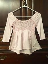 Abercrombie Kids Pink Top Size Medium