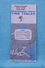 C&O - Time Table - April 29, 1962