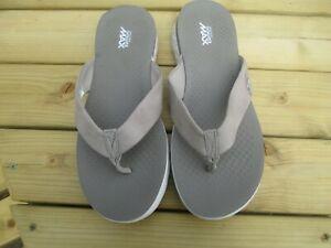 New ladies Skechers go go max 5 gen beige flip flops size 6