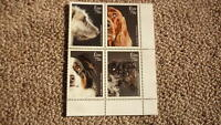 2016 IRELAND POST MINT STAMPS, IRELAND DOG BREEDS BLOCK OF 4  STAMPS MNH