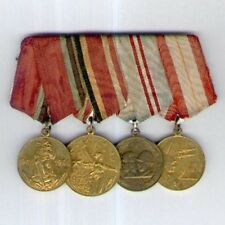 SOVIET RUSSIA. World War II Veteran's Group of Four Medals mounted for wear