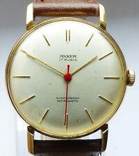 Schöne Anker Bauhaus 17Rubis Herren Vintage Armbanduhr 60er Jahre