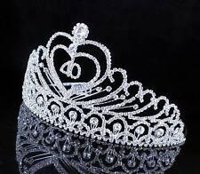ABt806 40-Year-Old Birthday Party Austrian Rhineston Tiara Crown Hair Combs