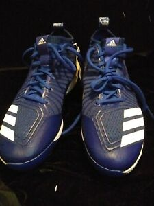 adidas Boost Baseball steel Cleats - Royal Blue Size 9