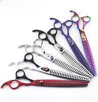 8 inch Pet Dog Hair Grooming Scissors Groomer Thinning Chunker Shears Clippers