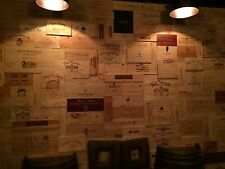 30 Assorted & Branded Wine Panels From Crates (20 SF) Sides/Ends/Tops Wood