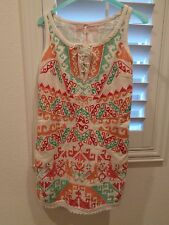 NEW! Free People White Andean Embroidered Mini Dress SZ 2-NWT