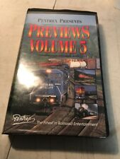 Pentrex Railroad VHS tape used Previews Volume 5