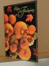 Unused Thanksgiving Card Pumpkins w/ envelope Black Orange