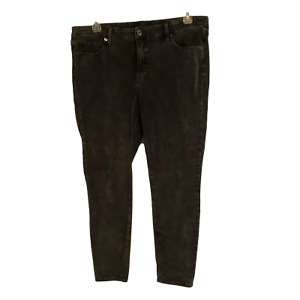 Lucky Brand Lolita Super Skinny Woman's Dark Gray Velvet Jeans Size 18W Plus