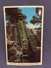 Top station,  Incline Railway,  Royal Gorge,  Colorado postcard