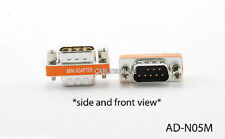 DB9 Male to Male Mini Null Modem Data Transfer Adapter/Gender Changer , AD-N05M