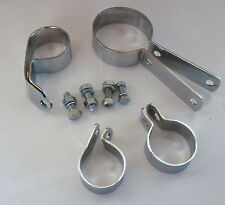 "Harley 45"" Flathead 4 Exhaust Clamp Set CHROME NEW 65511-32C (331)"