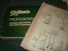 1978 CHRYSLER NEW YORKER NEWPORT BROUGHAM WIRING DIAGRAMS MANUAL SHEETS SET