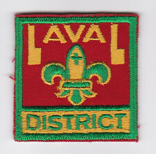 SCOUTS OF CANADA -  CANADIAN SCOUT QUEBEC LAVAL DISTRICT Patch (3 VAR)