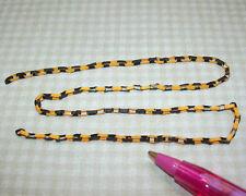 "Halloween Orange/Blk Paper Chain (12"" length): DOLLHOUSE 1:12"