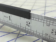 1/16 Edge Trim 1/16 X 5/16 69G Sold By the Foot U Channel Black Rubber Edging