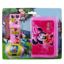Pack Reloj proyector y cartera monedero MINNIE MOUSE . A553