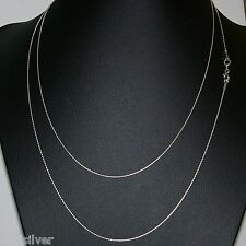 """40"""" 102cm Sterling Silver 925 0.6mm Fine Chain Long Necklace / Belly Chain"""