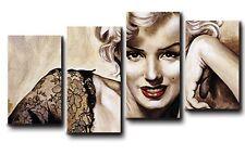 QUADRI MODERNI stampe su tela canvas intelaiati 140x75 4 pezziMARILYN 002