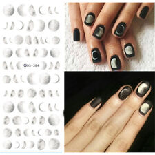 Moonlight  Pattern Nai Art Water Transfers Decals Manicure Stickers Tips Circle