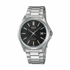 Casio MTP1183A-1A Mens Stainless Steel Analog Dress Watch Black Dial NEW