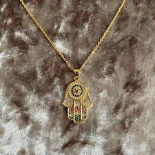 Topshop Gold Hand of Hamsa Necklace