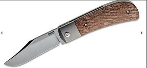 Pena Knives X Series Lanny's Clip Front Flipper Brown Micarta ONLY 300 Made