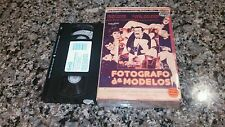 FOTOGRAFO DE MODELOS RARE BIG BOX VHS! 1990 SPANISH MEXI SEXY SLEAZE COMEDY!