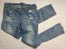 7/8 Paint Splatter Distressed Jeans Delias Size 7/8