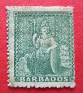 SG21 1861 Victoria Barbados 0.5d Green MM