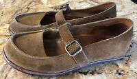 Cliff Dweller by CYDWOQ 40 / 9 Brown Suede Leather Mary Jane Flats US Shoes