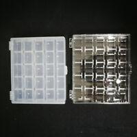 25 x 20mm Universal Nähmaschine Metall Spulen W//klar Aufbewahrungsbox