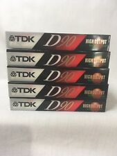 TDK D90 Blank Audio Cassettes Lot Of 5 IECI Type 1 New 180843