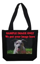 Black Cotton Bags custom printed with your personalised image in full colour