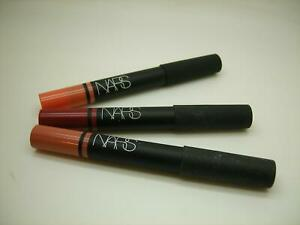 NARS LOT OF 3 SATIN LIP PENCIL: HYDE PARK, BISCAYNE & TORRES DEL PAINE LIP TINT