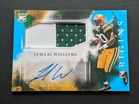2017 Panini Origins Jamaal Williams Rookie Autograph Patch #137 /25 Packers