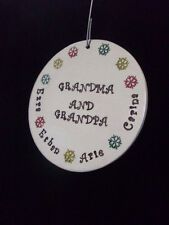 Grandparents Personalized Family Snowflake Ornament with Family Names HANDMADE