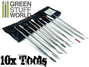 Sculpting Tools - 10 pcs - Wax Carvers - Green Stuff Carver tool - Warhammer 40k