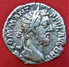 Authentic Ancient Roman Coin Commodus Denarius Silver 177-192 AD