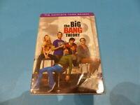 THE BIG BANG THEORY THE COMPLETE THIRD SEASON - DVD + DIGITAL NEW SEALED