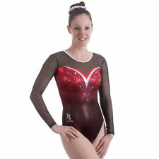 """New Milano Misty Long sleeved Gymnastic leotard - 32"""" age 11-13 Years"""