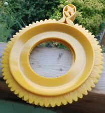 Vintage Paper Plate Holders Plate-Mate 4 Yellow or Gold Sunflowers MCM