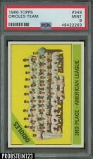 1966 Topps #348 Baltimore Orioles Team Card PSA 9 MINT