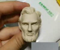"""Unpainted 1/6 Carved Man Head Abraham Lincoln Sculpt Model Fit 12"""" Figure Toy"""